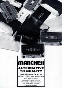 Adv Fratelli Marchesi Musicassette Anni '80